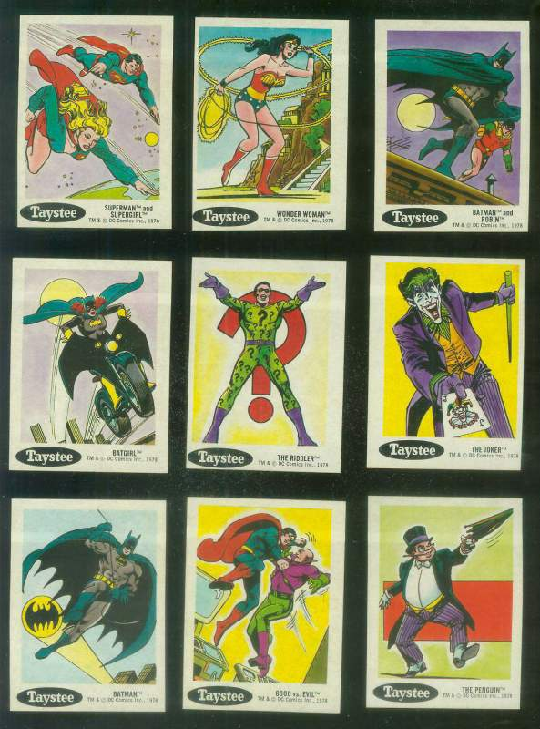 1978 Taystee Super Heroes #16 Batman Non-Sport cards value