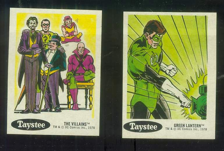 1978 Taystee Super Heroes #30 Green Lantern Non-Sport cards value