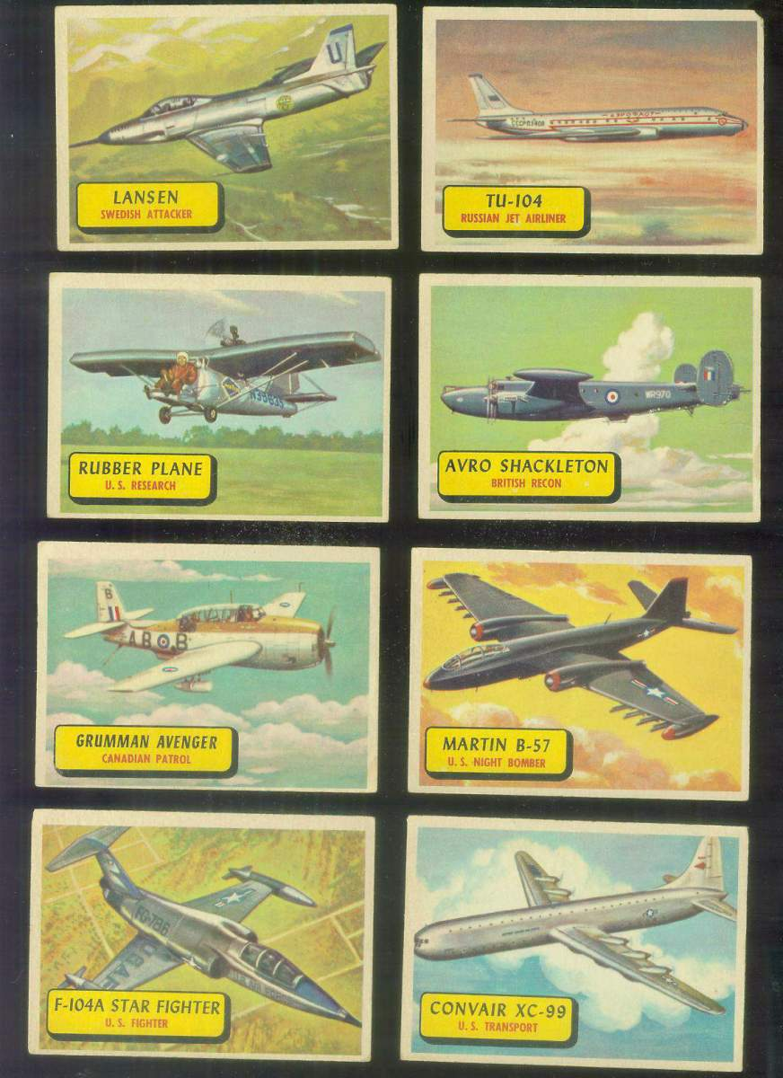 1957 Topps Planes Blue Backs #.54 Convair XC-99 Non-Sport cards value