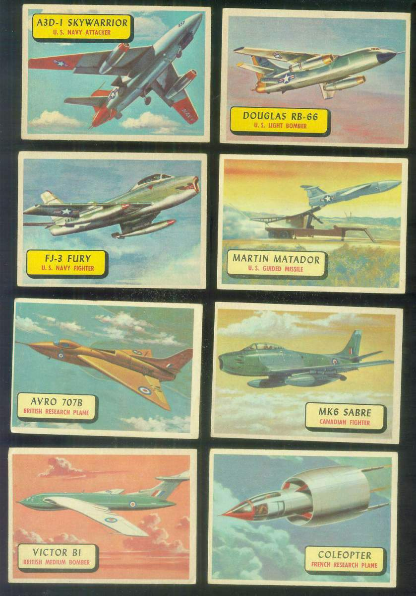 1957 Topps Planes Blue Backs #.82 Victor B-1 Non-Sport cards value