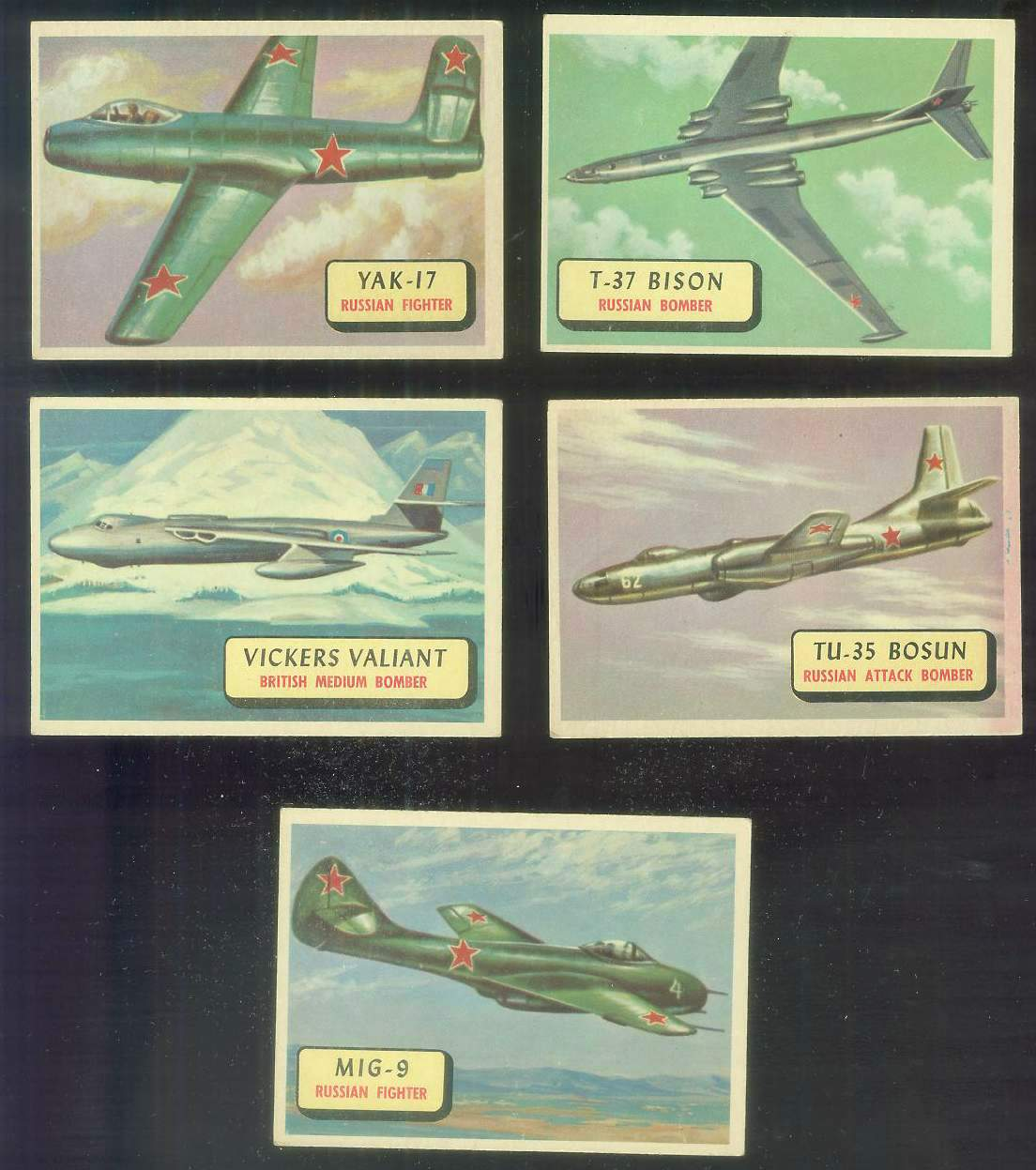 1957 Topps Planes Blue Backs #117 Vickers Valiant Non-Sport cards value