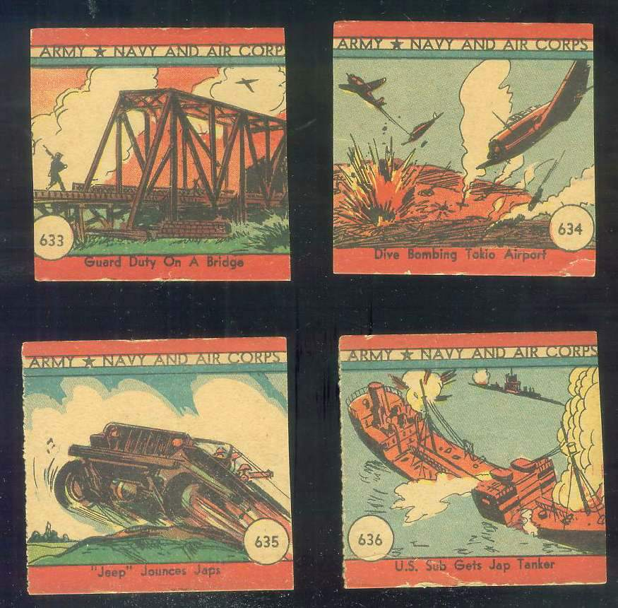 1942 Army Navy and Air Corps #636 U.S. Sub Gets Jap Tanker Non-Sport cards value