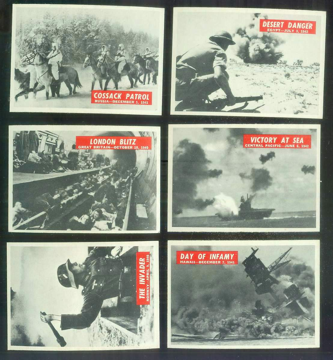 1965 Philadelphia WAR BULLETIN #.8 'Cossack Patrol' Non-Sport cards value