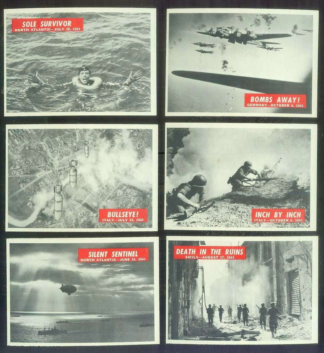 1965 Philadelphia WAR BULLETIN #25 'Death In The Ruins' n cards value