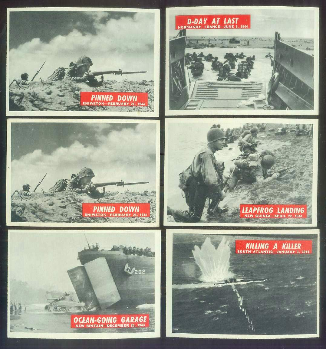1965 Philadelphia WAR BULLETIN #35 'Ocean-Going Garage' n cards value