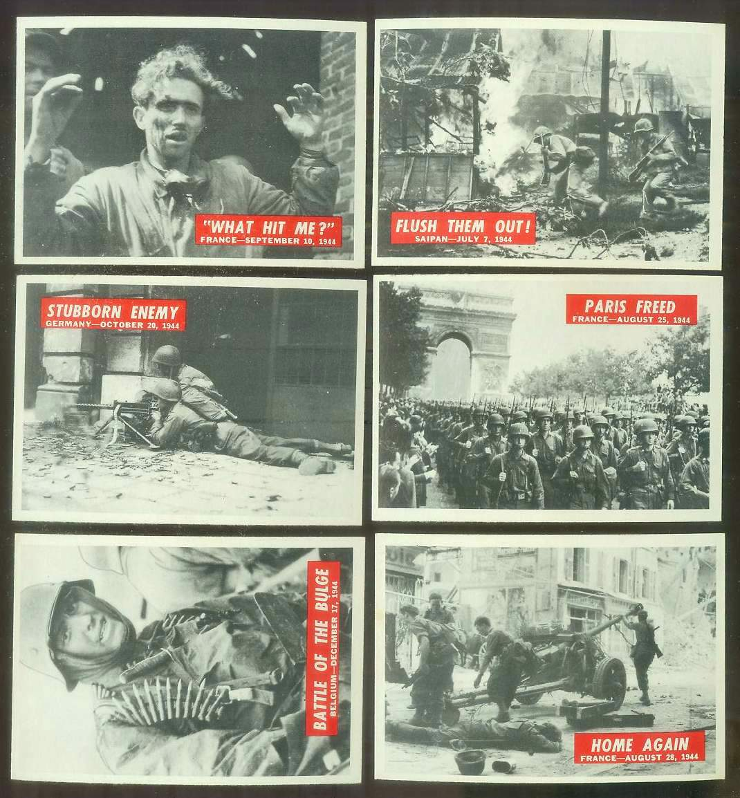 1965 Philadelphia WAR BULLETIN #54 'Stubborn Enemy' Non-Sport cards value