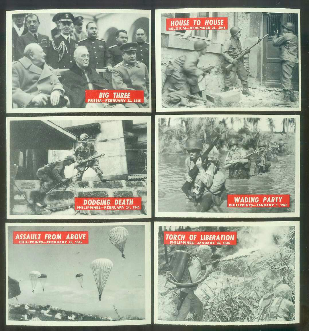 1965 Philadelphia WAR BULLETIN #59 'Big Three' Non-Sport cards value