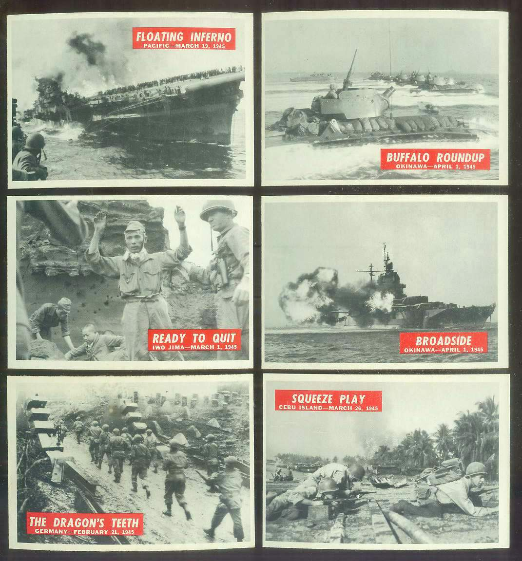 1965 Philadelphia WAR BULLETIN #67 'Squeeze Play' Non-Sport cards value