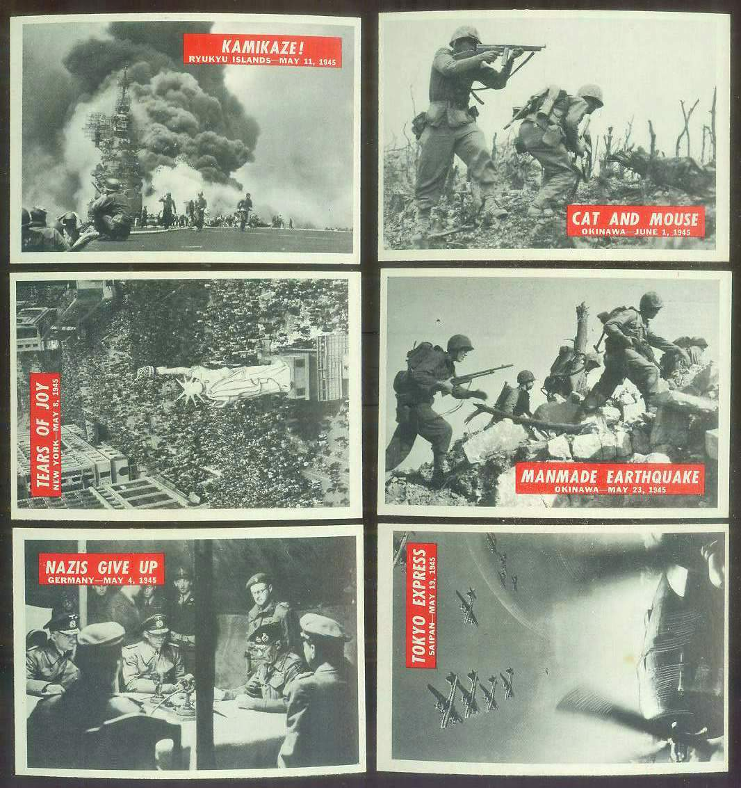 1965 Philadelphia WAR BULLETIN #76 'Nazis Give Up' Non-Sport cards value