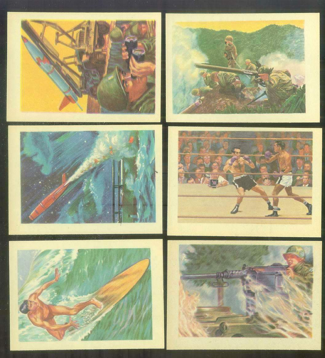 1956 GUM Inc. ADVENTURE #.24 'Manning The Honest John' Non-Sport cards value