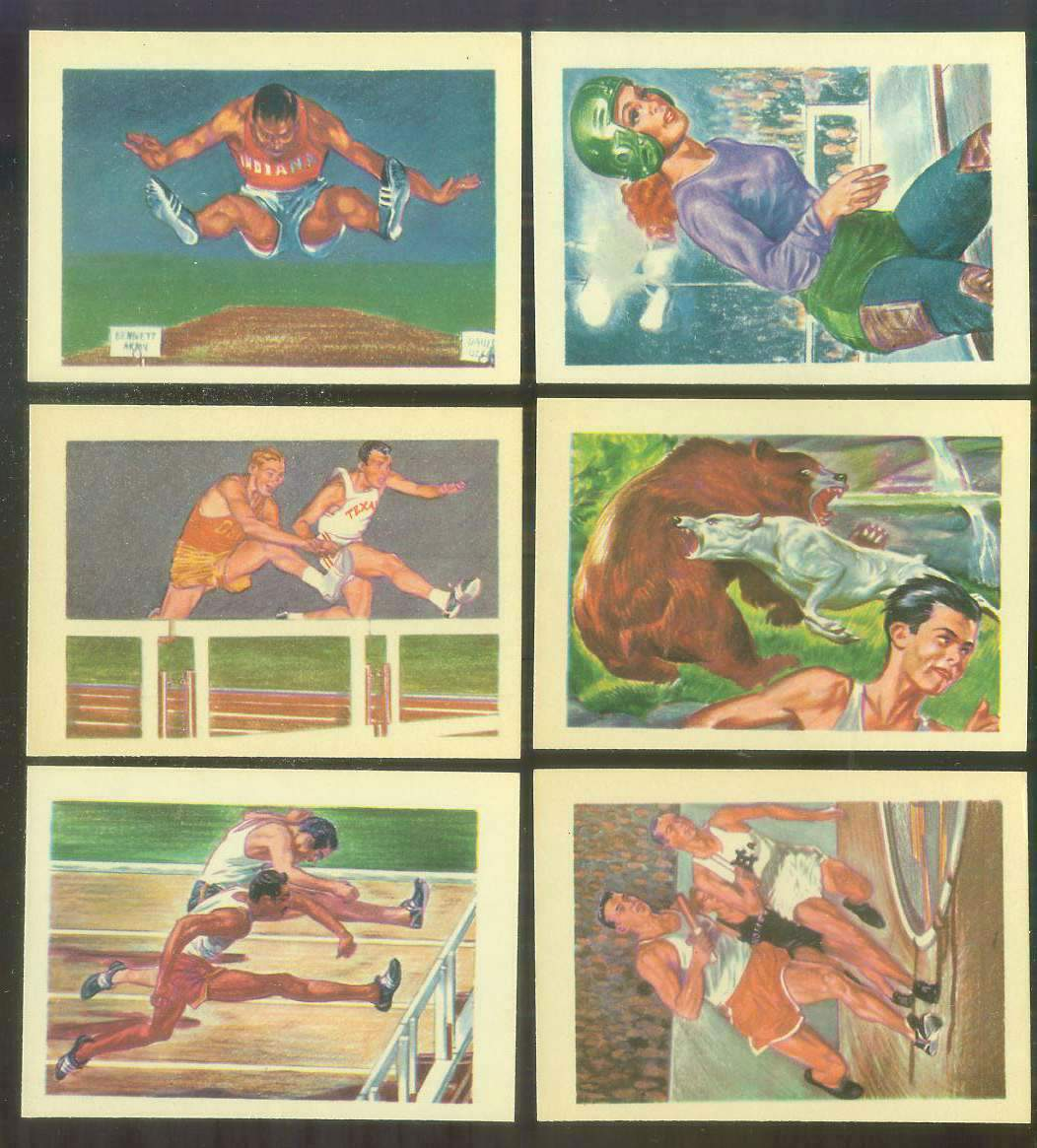 1956 GUM Inc. ADVENTURE #.83 TRACK - 'The Ageless Sport' Non-Sport cards value