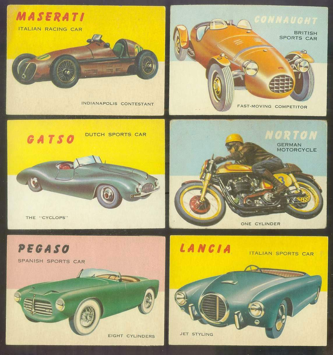 1954-55 Topps WORLD ON WHEELS #.19 Pegaso Spanish Sports Car Non-Sport cards value