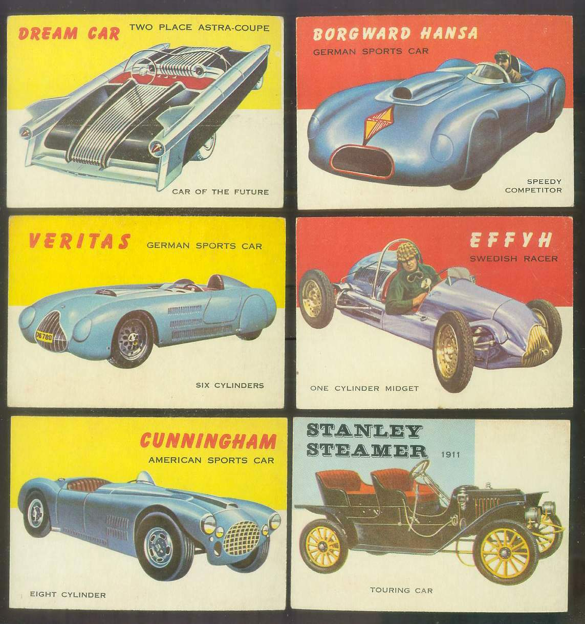 1954-55 Topps WORLD ON WHEELS #.35 EEFYH Swedish Racer Non-Sport cards value