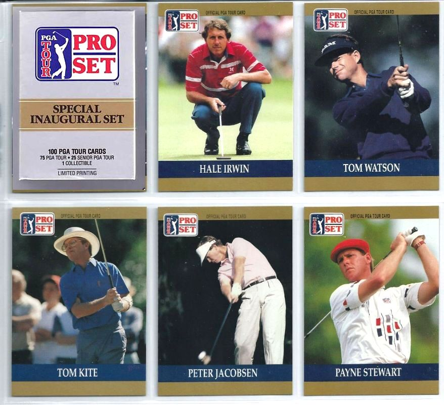 1990 Pro Set PGA Tour GOLF - COMPLETE SPECIAL INAUGURAL SET (100 cards) Baseball cards value