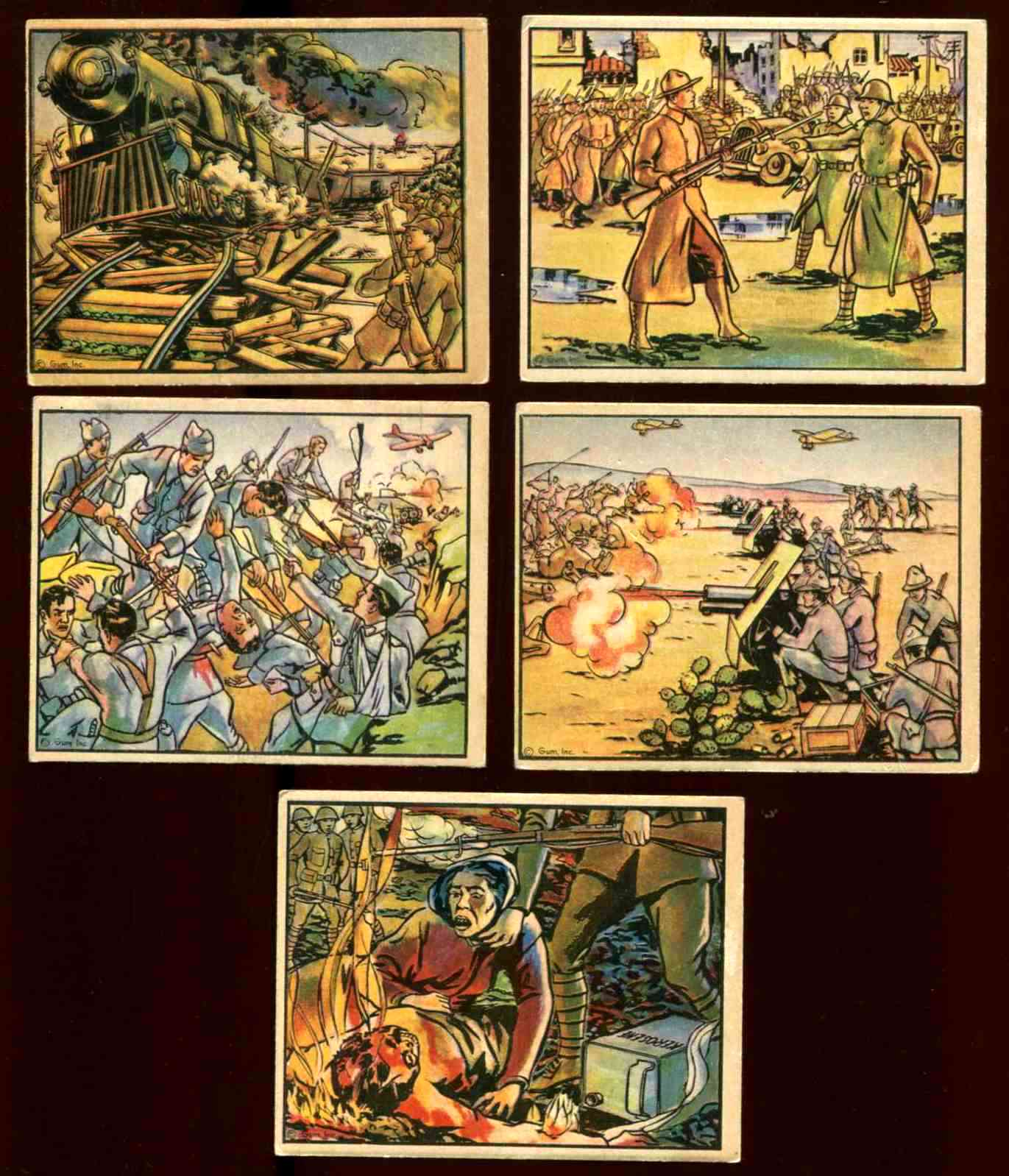 1938 Horrors of War #112 Hand-To-Hand Fighting in Aragon Baseball cards value