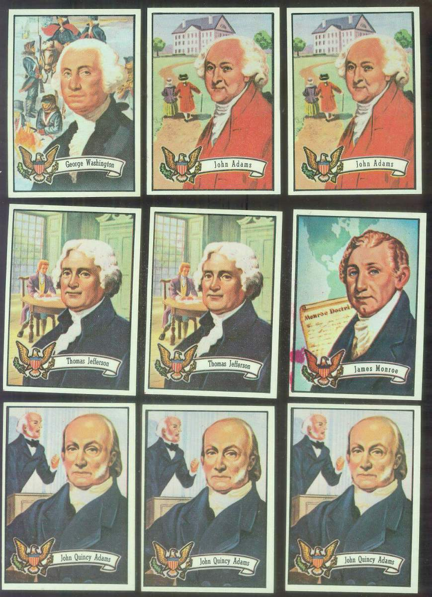 1972 Topps U.S. PRESIDENTS #.6 John Quincy Adams Non-Sport cards value