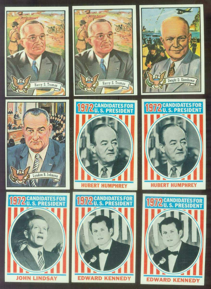 1972 Topps U.S. PRESIDENTS #38 Hubert Humprhey Non-Sport cards value