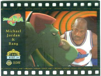 Michael Jordan & Bang 'Space Jam' Celcard - In 4-screw Acrylic holder Non-Sport cards value