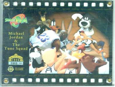 Michael Jordan & The Tune Squad 'Space Jam' Celcard - in 4-screw Acrylic Non-Sport cards value