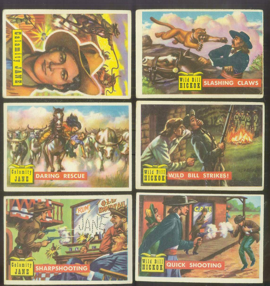 1956 Topps ROUND UP #.3 'Slashing Claws' (Wild Bill Hickok) Non-Sport cards value