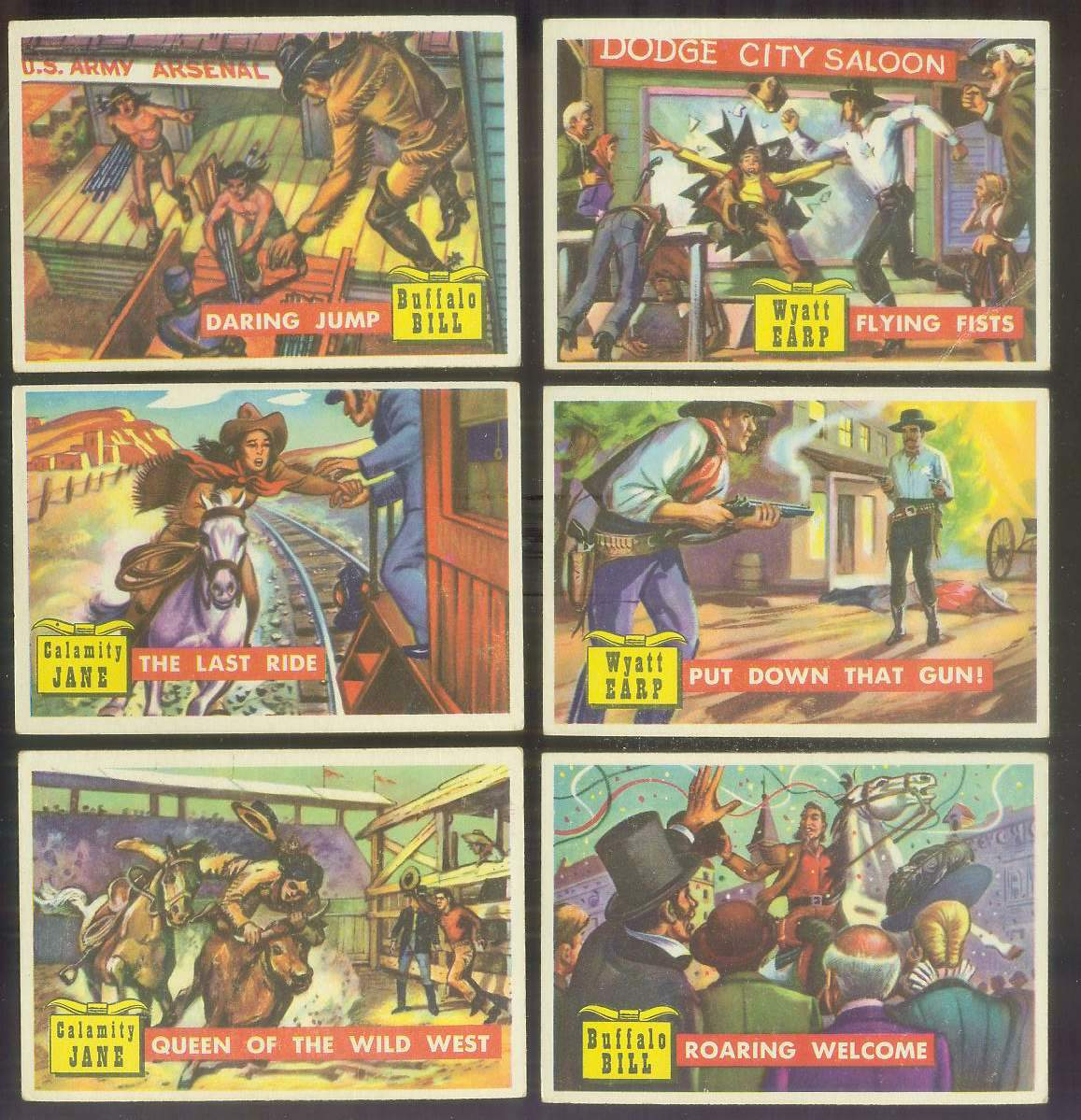 1956 Topps ROUND UP #20 'The Last Ride' (Calamity Jane) Non-Sport cards value