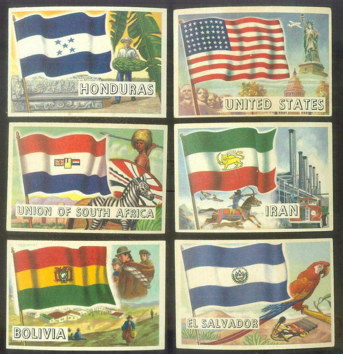 1956 Topps FLAGS of the World #.3 Ei Salvador Non-Sport cards value