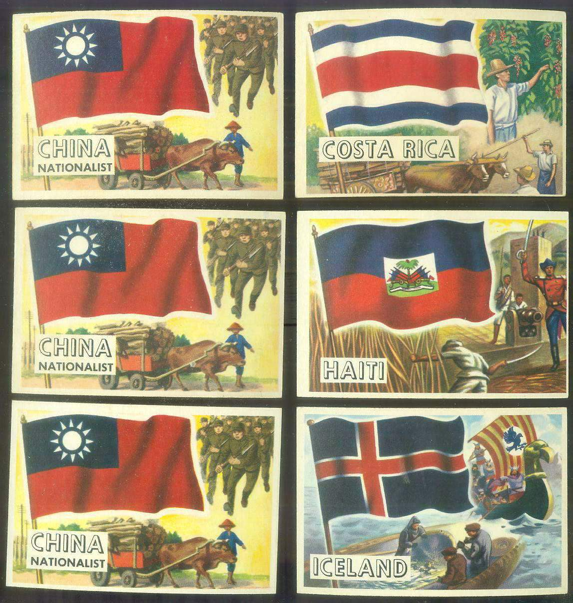 1956 Topps FLAGS of the World #16 Haiti Non-Sport cards value