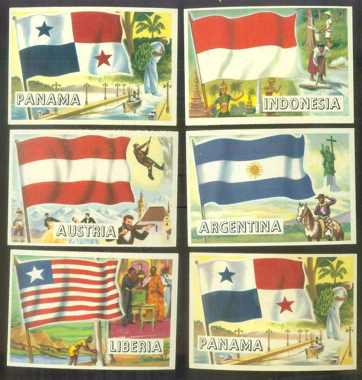 1956 Topps FLAGS of the World #22 Panama Non-Sport cards value