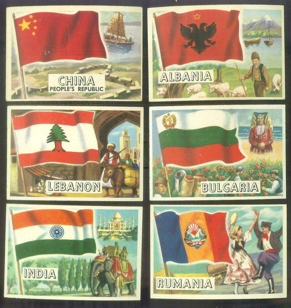 1956 Topps FLAGS of the World #31 Rumania Non-Sport cards value