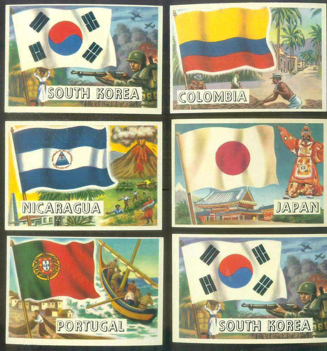 1956 Topps FLAGS of the World #36 JAPAN Non-Sport cards value