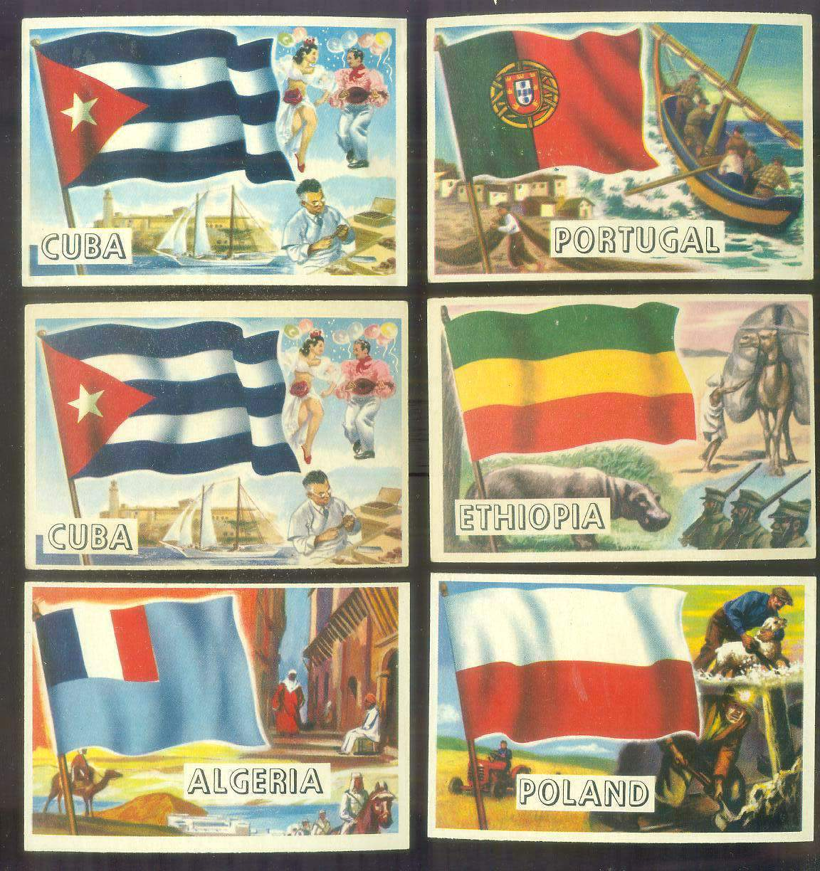 1956 Topps FLAGS of the World #48 Ethiopia Non-Sport cards value
