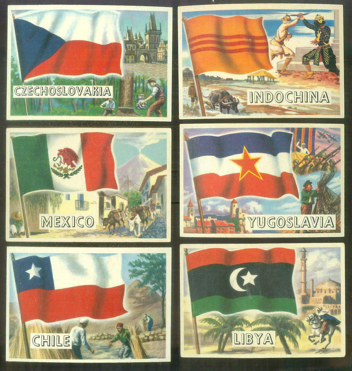 1956 Topps FLAGS of the World #63 Yugoslavia Non-Sport cards value