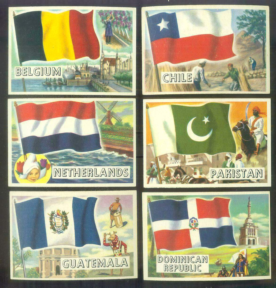 1956 Topps FLAGS of the World #73 Dominican Republic Non-Sport cards value