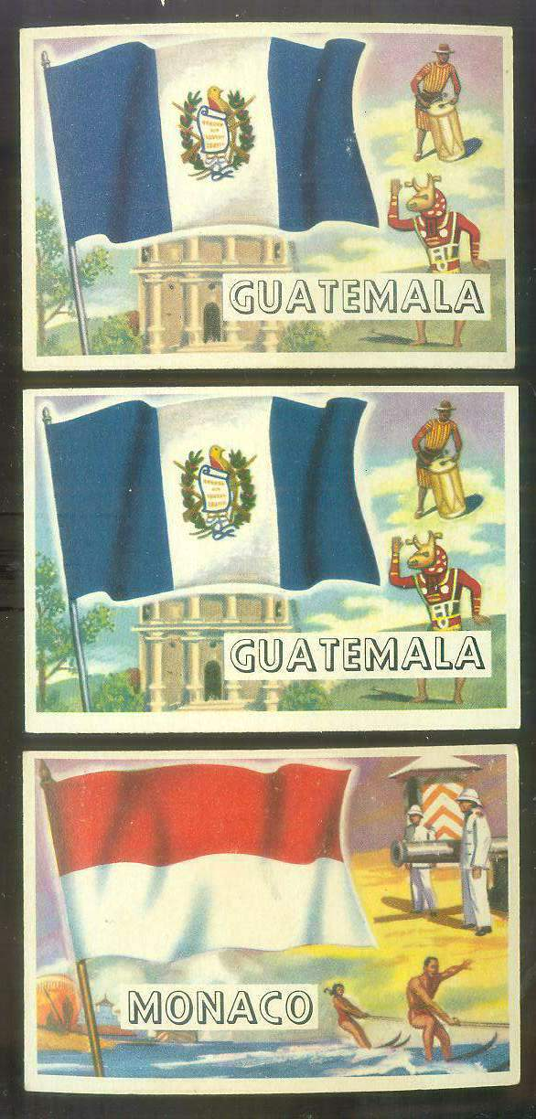 1956 Topps FLAGS of the World #78 Guatemala Non-Sport cards value