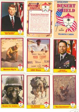 1991 Pacific OPERATION DESERT SHIELD - COMPLETE FACTORY SEALED SET Non-Sport cards value