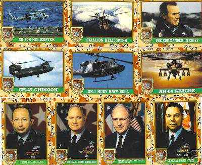 1991 Topps DESERT STORM 2nd Series - COMPLETE SET (88 cards) Non-Sport cards value