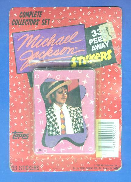 1984 Michael Jackson Complete Topps Stickers Factory Set