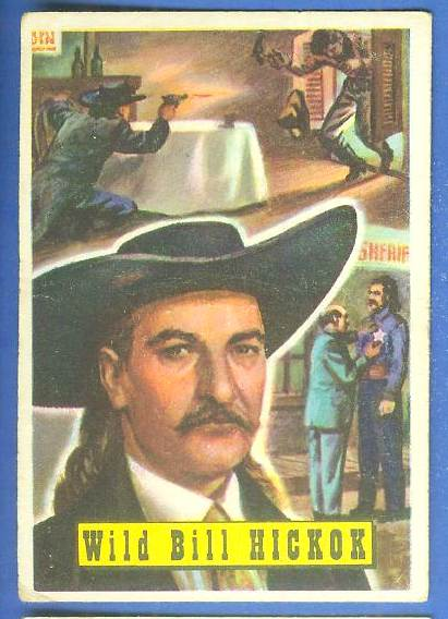 1956 Topps ROUND UP #.1 WILD BILL HICKOK Non-Sport cards value