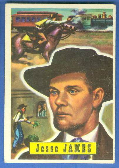 1956 Topps ROUND UP #51 JESSE JAMES Non-Sport cards value