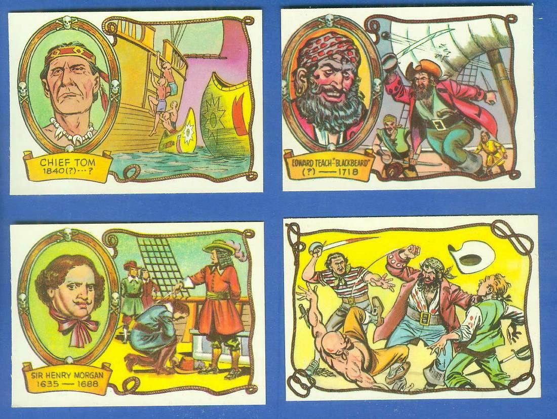 1961 Fleer PIRATES BOLD #57 Edward Teach Blackbeard Non-Sport cards value