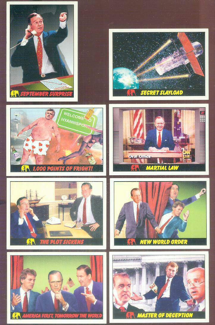 1992 Republicans Attack! #.1 'September Surprise' Non-Sport cards value