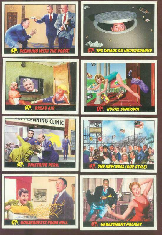 1992 Republicans Attack! #12 'Hurry, Sundown' JANE FONDA Non-Sport cards value