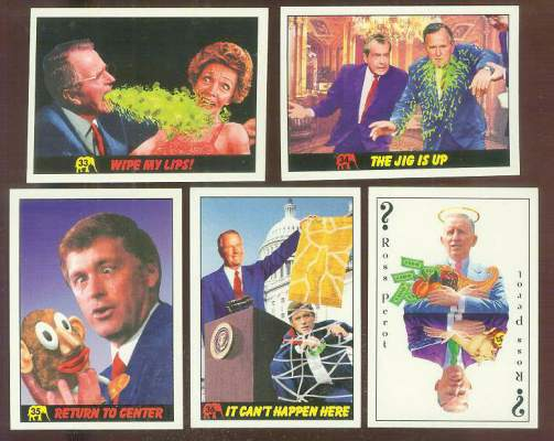 1992 Republicans Attack! #34 'The Jig Is Up' Non-Sport cards value
