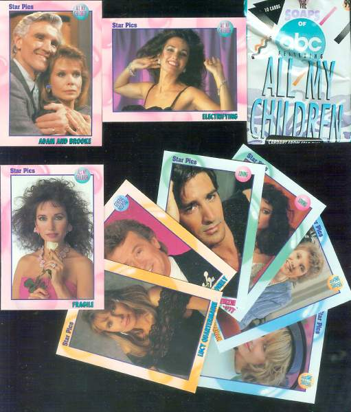 1991 ALL MY CHILDREN - COMPLETE SET (72 cards + 5 inserts + wrapper) Non-Sport cards value
