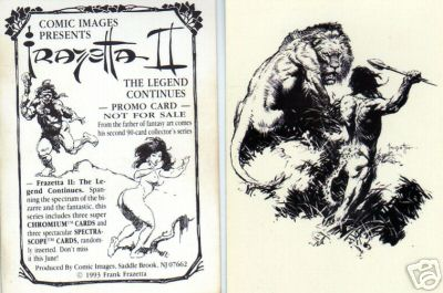 1993 Comic Images FRAZETTA II - COMPLETE SET (90 cards) + Wrapper Non-Sport cards value