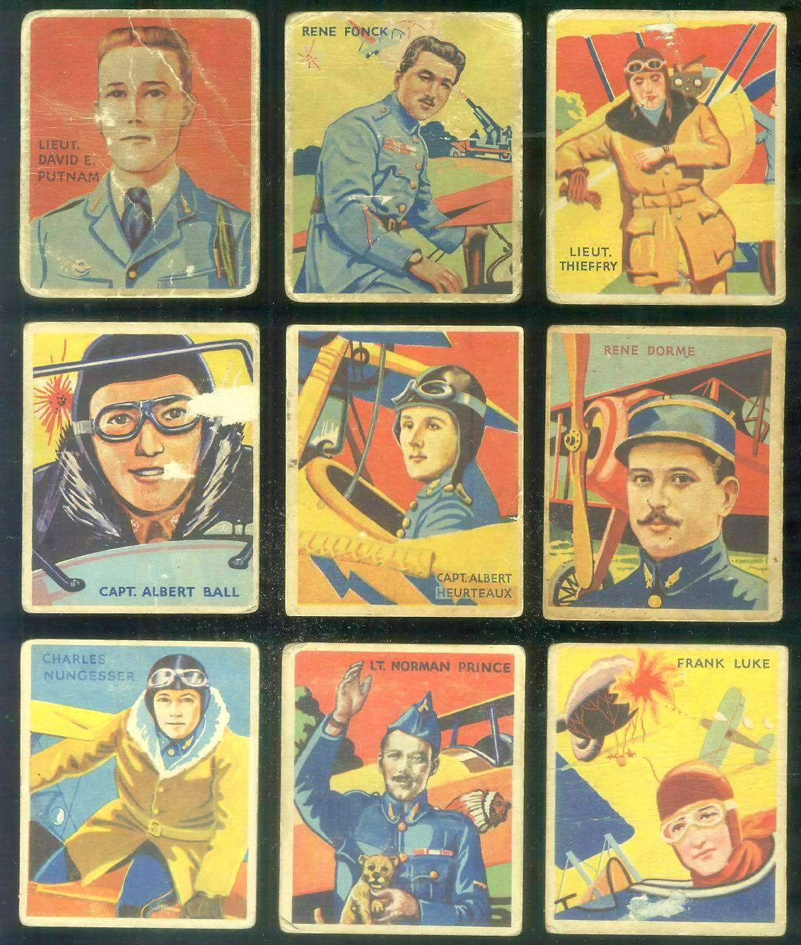 1933-34 Sky Birds #..4 Capt. Albert Ball Non-Sport cards value