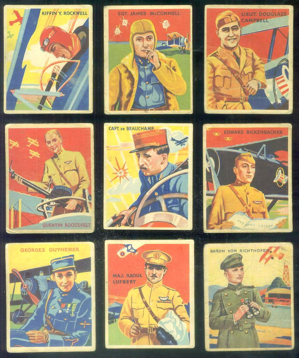 1933-34 Sky Birds #.22 Maj. Raoul Lufberry Non-Sport cards value