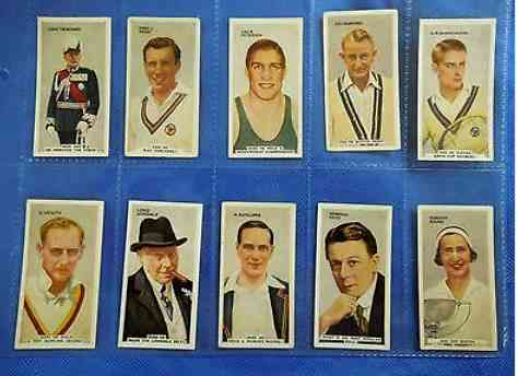1935 'In the PUBLIC EYE' - Complete set (54) (Godfrey Phillips, England) n cards value