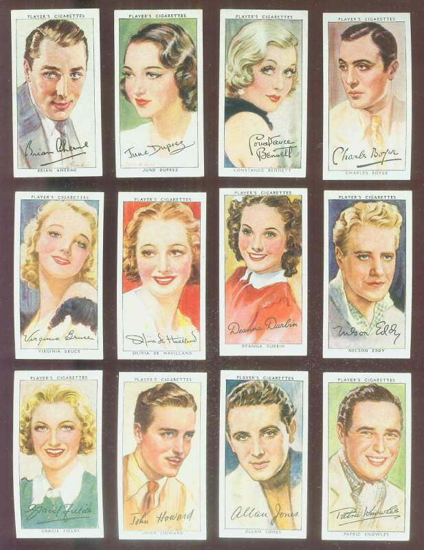 1938 Player's Film Stars #13 Nelson Eddy Non-Sport cards value