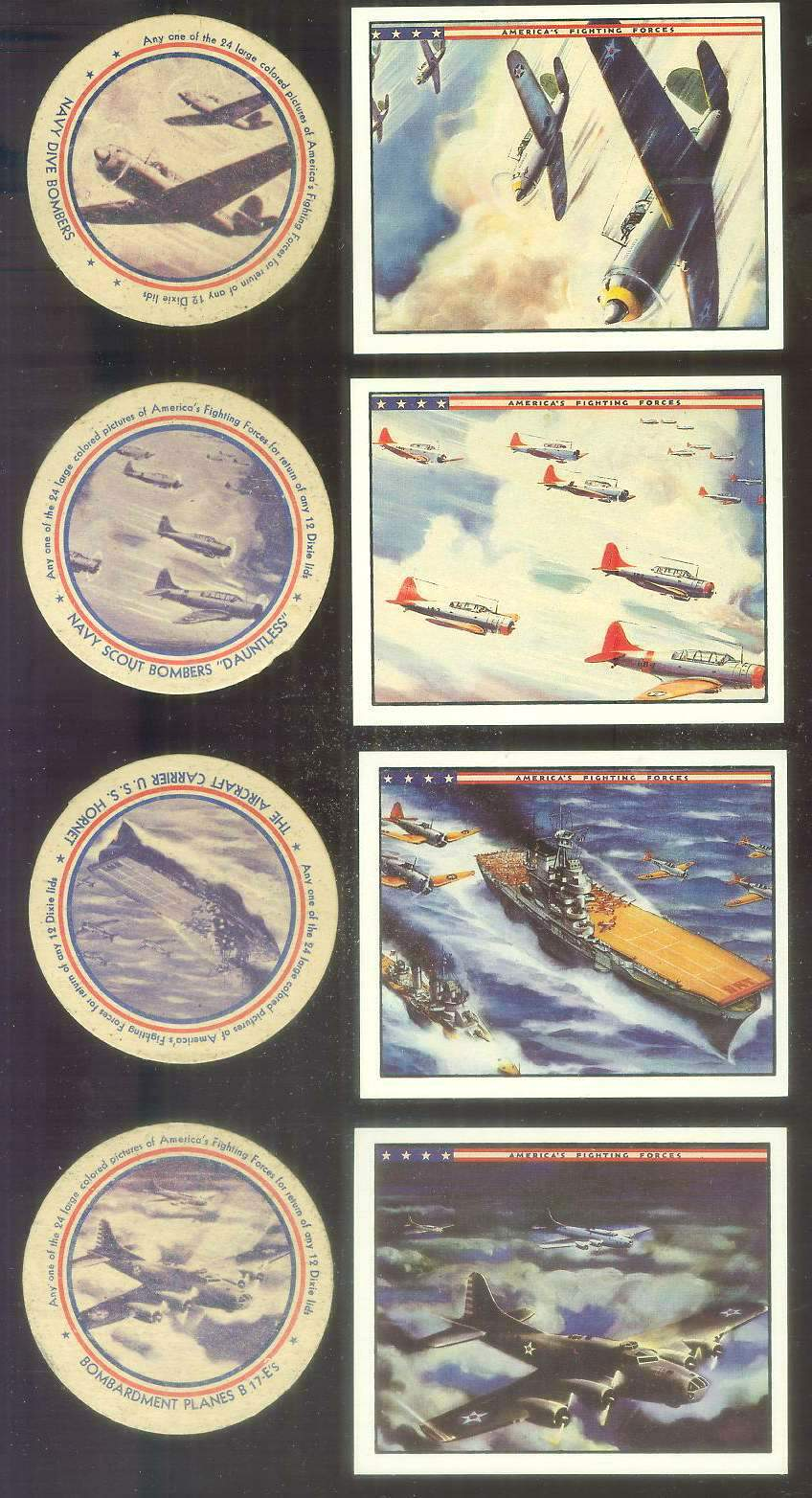1942 Dixie Lids AMERICA'S FIGHTING FORCES #11 Paratroop Transport Planes Non-Sport cards value